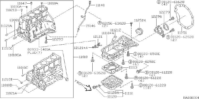 1986 Nissan Hardbody Pick Up Engine Crankshaft Main