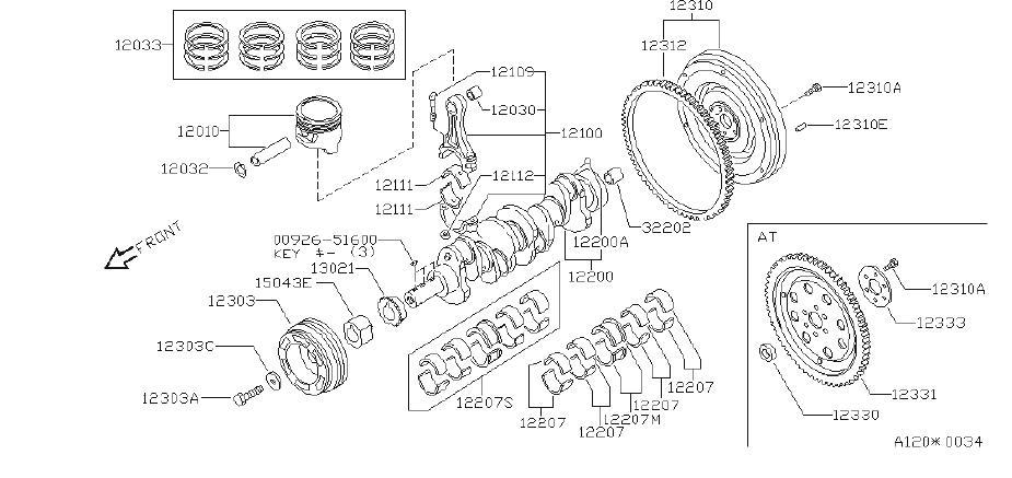 1990 Nissan Hardbody Pick Up Engine Connecting Rod Bearing