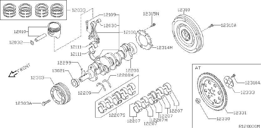 2000 Nissan Engine Connecting Rod. SELECT, ILLUSTRATION