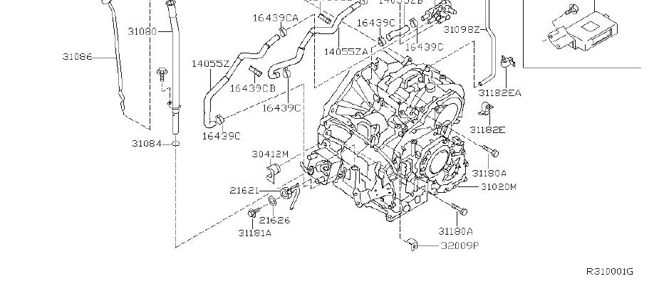 1969 Nissan Srs product. Hose breather. Fitting, assembly
