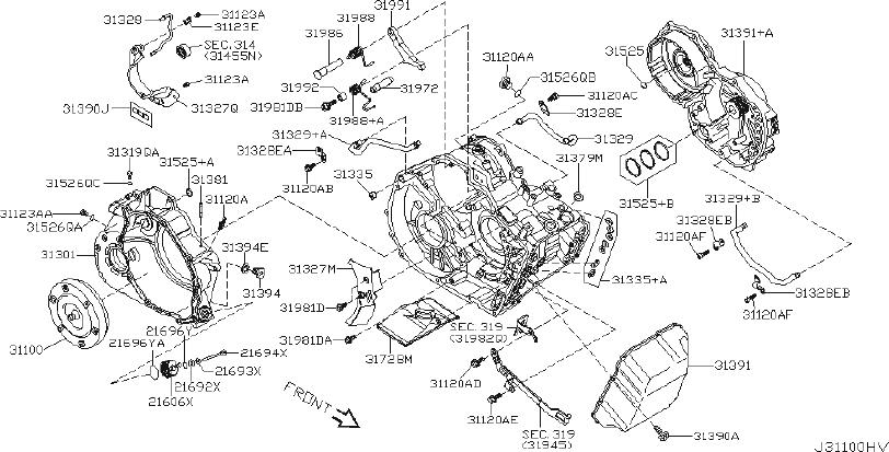 Nissan Altima Automatic Transmission Oil Pan Drain Plug