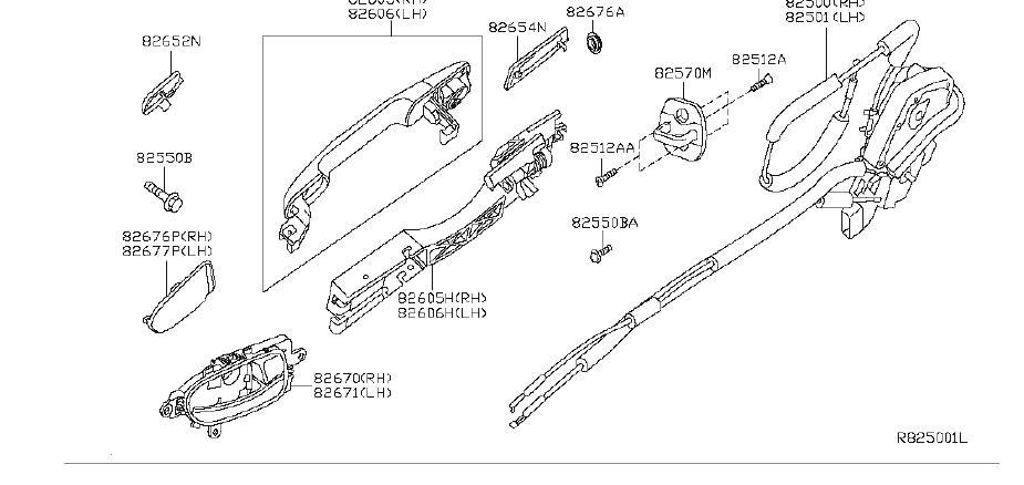 Nissan Altima Exterior Door Handle (Left, Right, Rear