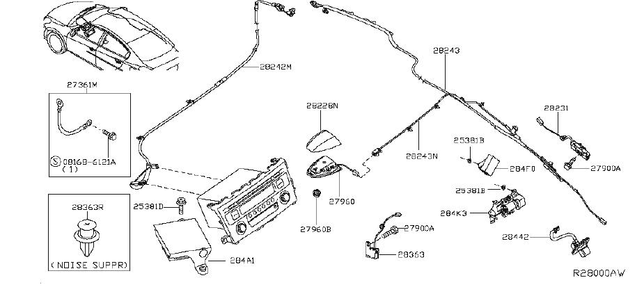Nissan Altima Gps Navigation System. AUDIO, UNIT, ANTENNA