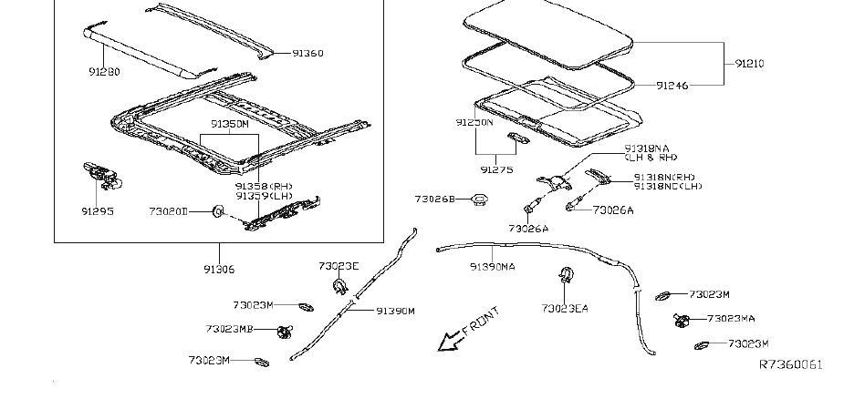 Nissan Altima Sunroof Motor. SLIDING, POWER, MOONROOF