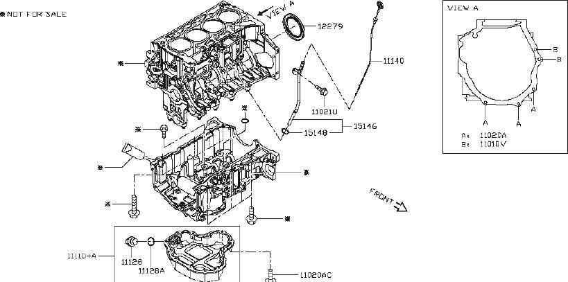 Nissan Altima Engine Oil Dipstick Tube. COMPONENT