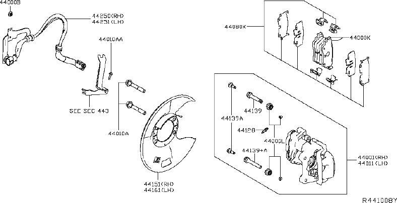 Nissan Altima Disc Brake Caliper Guide Pin Bolt. Pin Slide