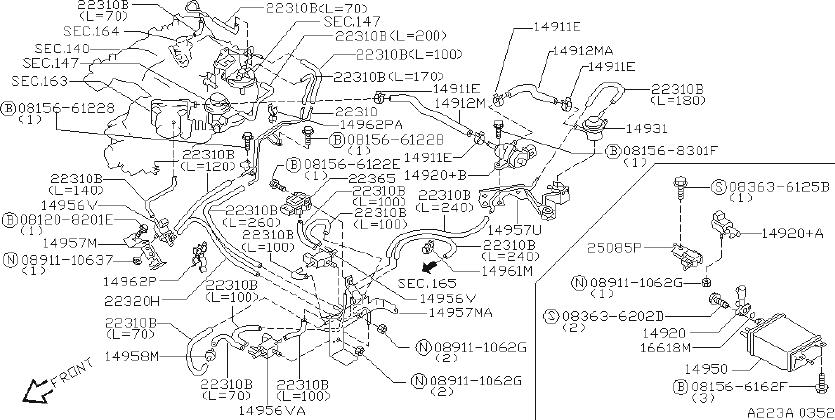 2000 Nissan Xterra Manifold Absolute Pressure Sensor
