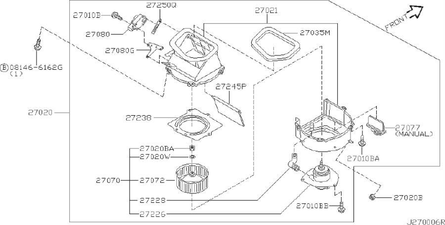 2002 Nissan Pathfinder Engine Cooling Fan Motor Wiring