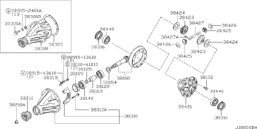 Datsun PICKUP Spacer Bearing, Drive Pinion. LSD, SELECT