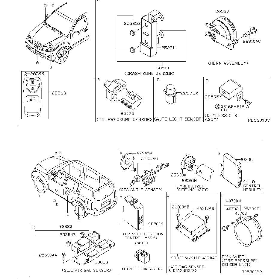 Nissan Pathfinder Tire Pressure Monitoring System Sensor