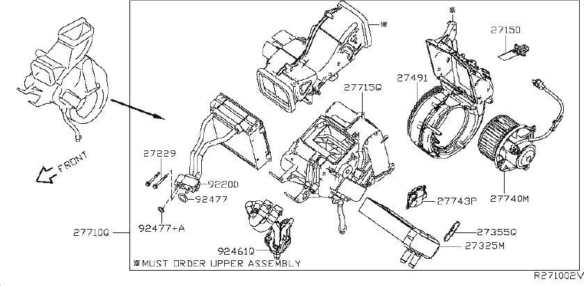 Nissan Pathfinder Door Intake. Resistor Heater. Variable B