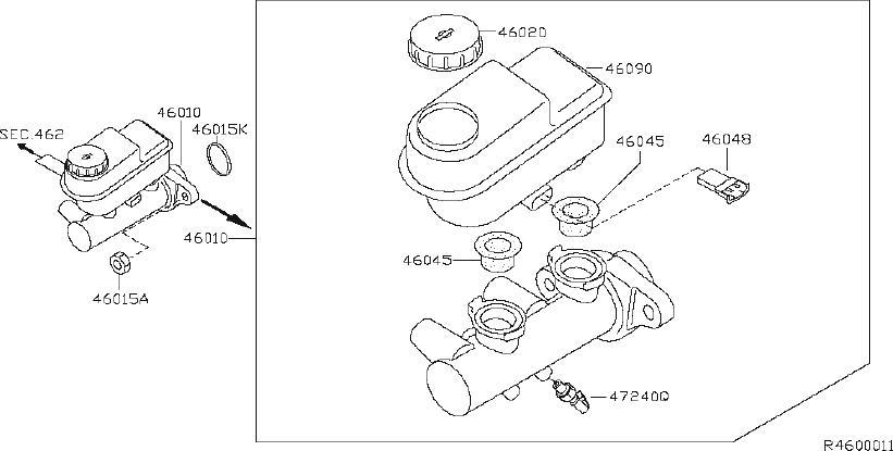 Nissan Pathfinder Brake Master Cylinder Reservoir Cap