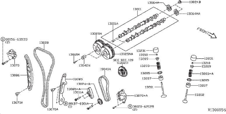 Nissan Pathfinder Engine Intake Valve. CAMSHAFT, MECHANISM
