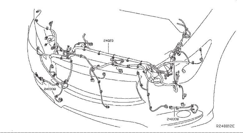 Nissan Pathfinder Harness SUB, Console Box. ENGINE, ROOM