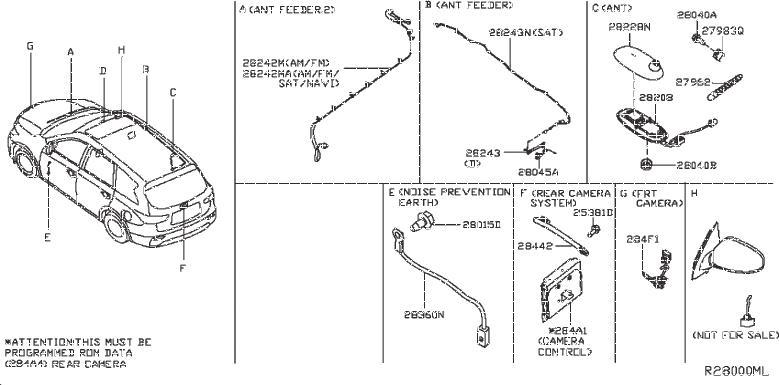 Nissan Pathfinder Radio Module Interface. AUDIO, UNIT