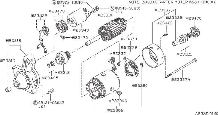 Datsun 260Z Care Gear. Metal Gear, Case. (Front). HITACHI