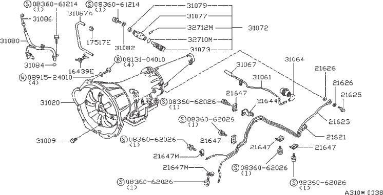 1979 Nissan A10 Pinion Speedometer (18T). Plug