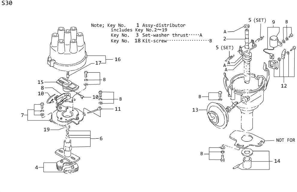Datsun 260Z Advance Vacuum. Control Vacuum. Terminal