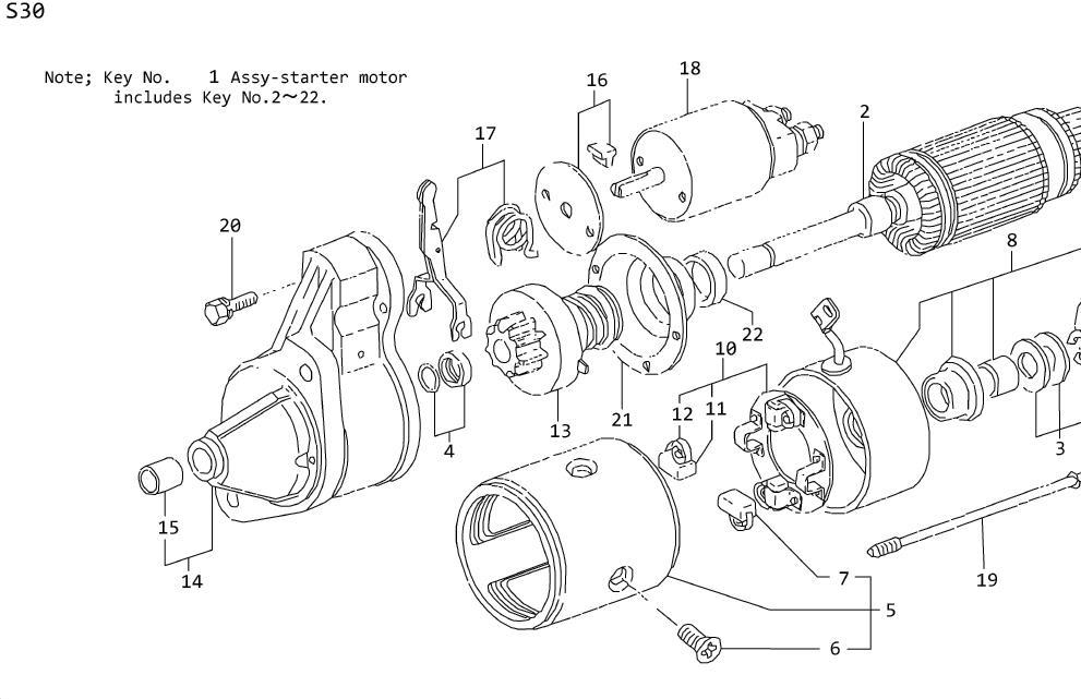 Datsun 280Z Remanufactured Starter A. MANUAL, MOTOR