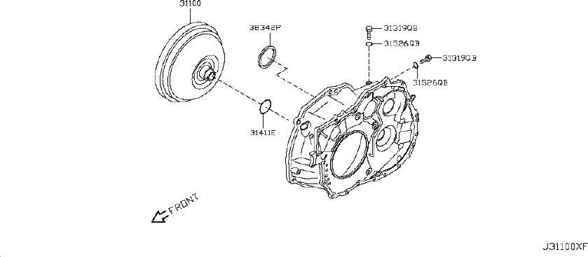 Nissan Versa Automatic Transmission Oil Pan Gasket