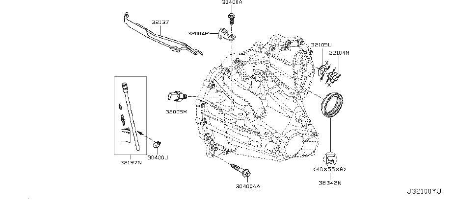 Nissan Versa Manual Transmission Output Shaft Seal. CLUTCH