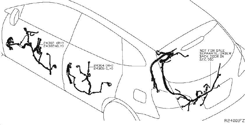 Nissan Pathfinder Housing-fusible link holder. Harness