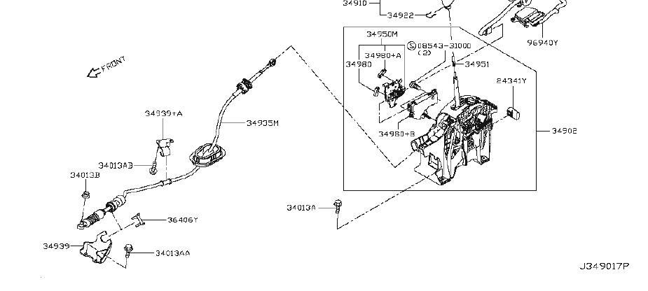 Nissan Rogue Shift Interlock Solenoid. PUSH, PREM, SYSTEM