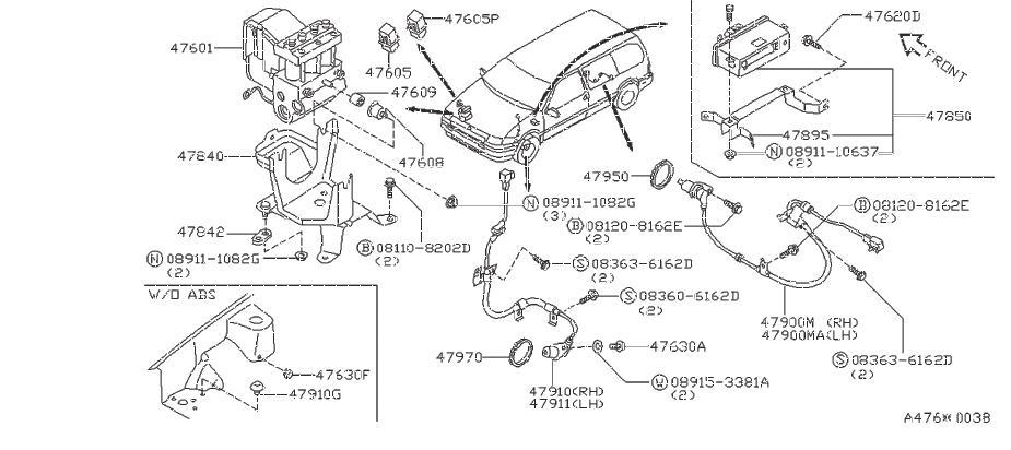 1993 Nissan Abs Wheel Speed Sensor Tone Ring (Rear). SKID