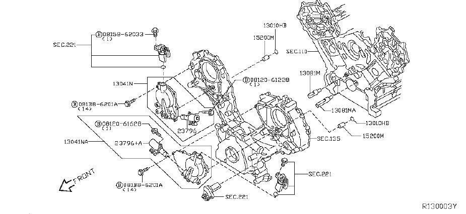 2012 Nissan NV3500 Engine Timing Camshaft Sprocket. VALVE