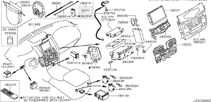 Nissan Armada Audio Auxiliary Jack. UNIT, PLTCP, PLT
