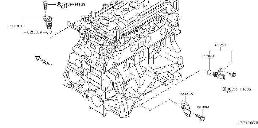 2009 Nissan Cube Engine Crankshaft Position Sensor
