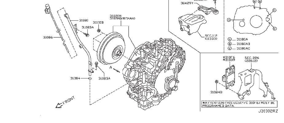 Nissan/INFINITI 310CM1XE1BRA Remanufactured Transmission