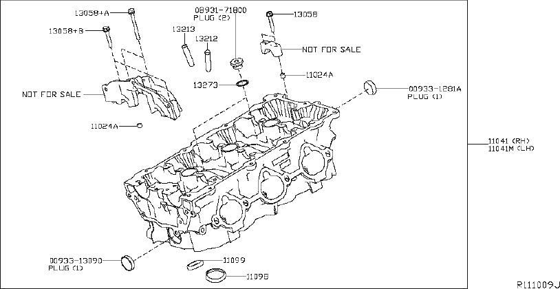 Nissan Murano Engine Valve Cover Gasket. HEAD, CYLINDER