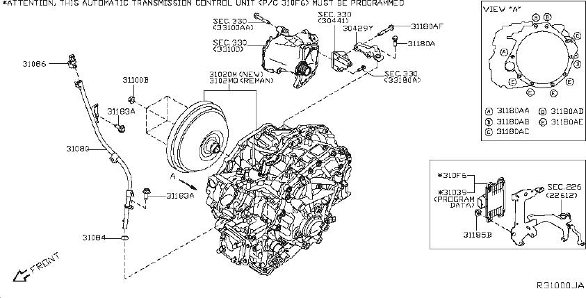 Nissan Murano Automatic Transmission Control Module. CVT
