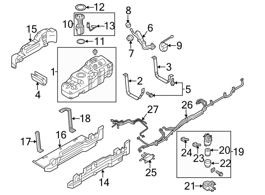 Ford F-250 Super Duty Fuel Tank Shield. Bracket, Side