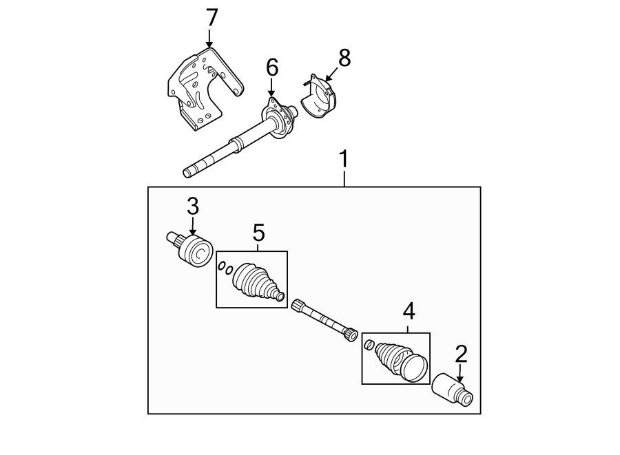 Ford Escape Cv intermediate shaft. Liter, axle, auto