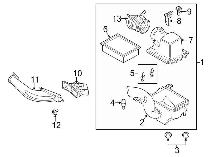Ford Escape Mass Air Flow Sensor. LITER, Engine, DOHC
