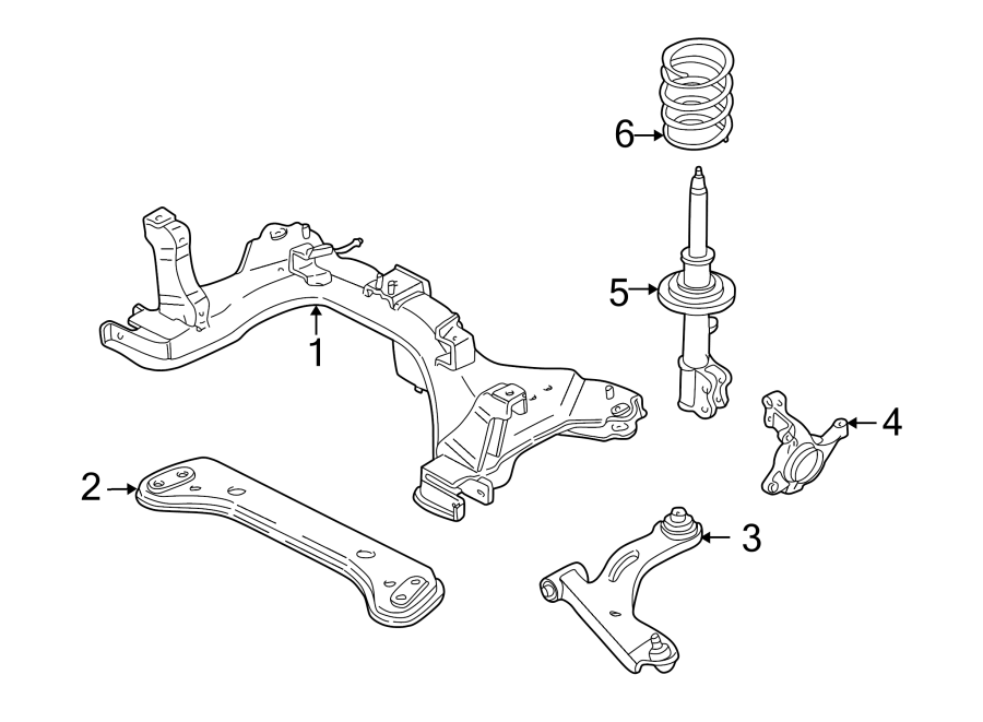 Ford Escape Suspension Subframe Crossmember (Front, Lower