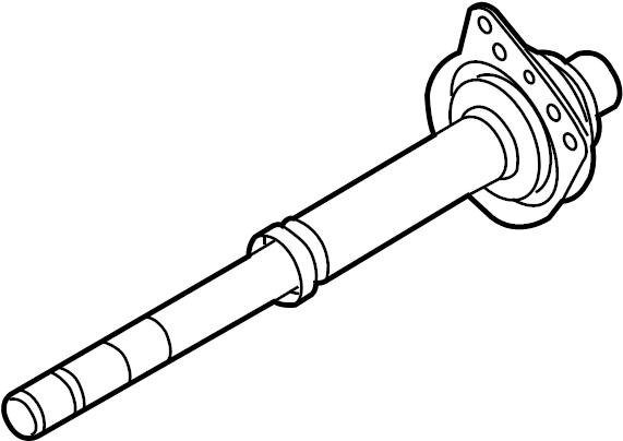 2003 Ford Escape Cv intermediate shaft. Liter, axle, auto