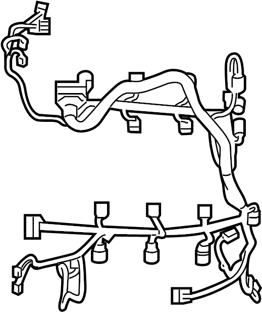 Ford Fusion Engine Wiring Harness. 2.7 liter. 2.7, 3.0