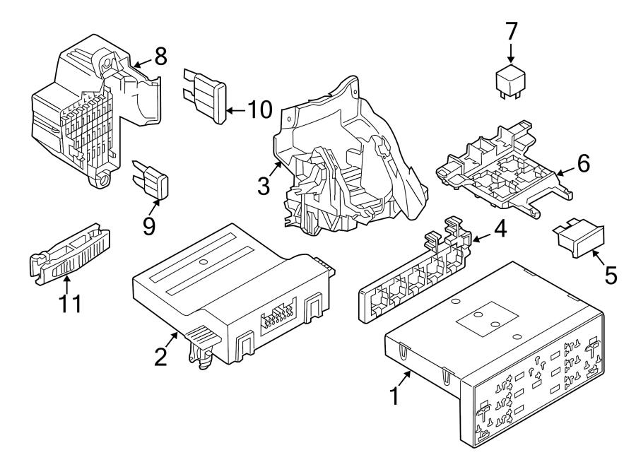 2018 Volkswagen Body Control Module. GATEWAY. PASSENGER