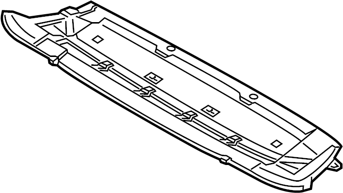 2014 Audi Q5 Radiator Support Splash Shield (Front, Lower