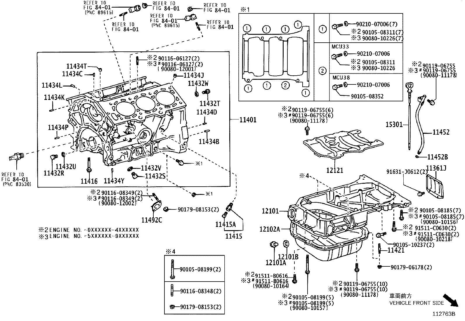 Lexus RX 330 Block sub-assembly, cylinder. Cooler, oil