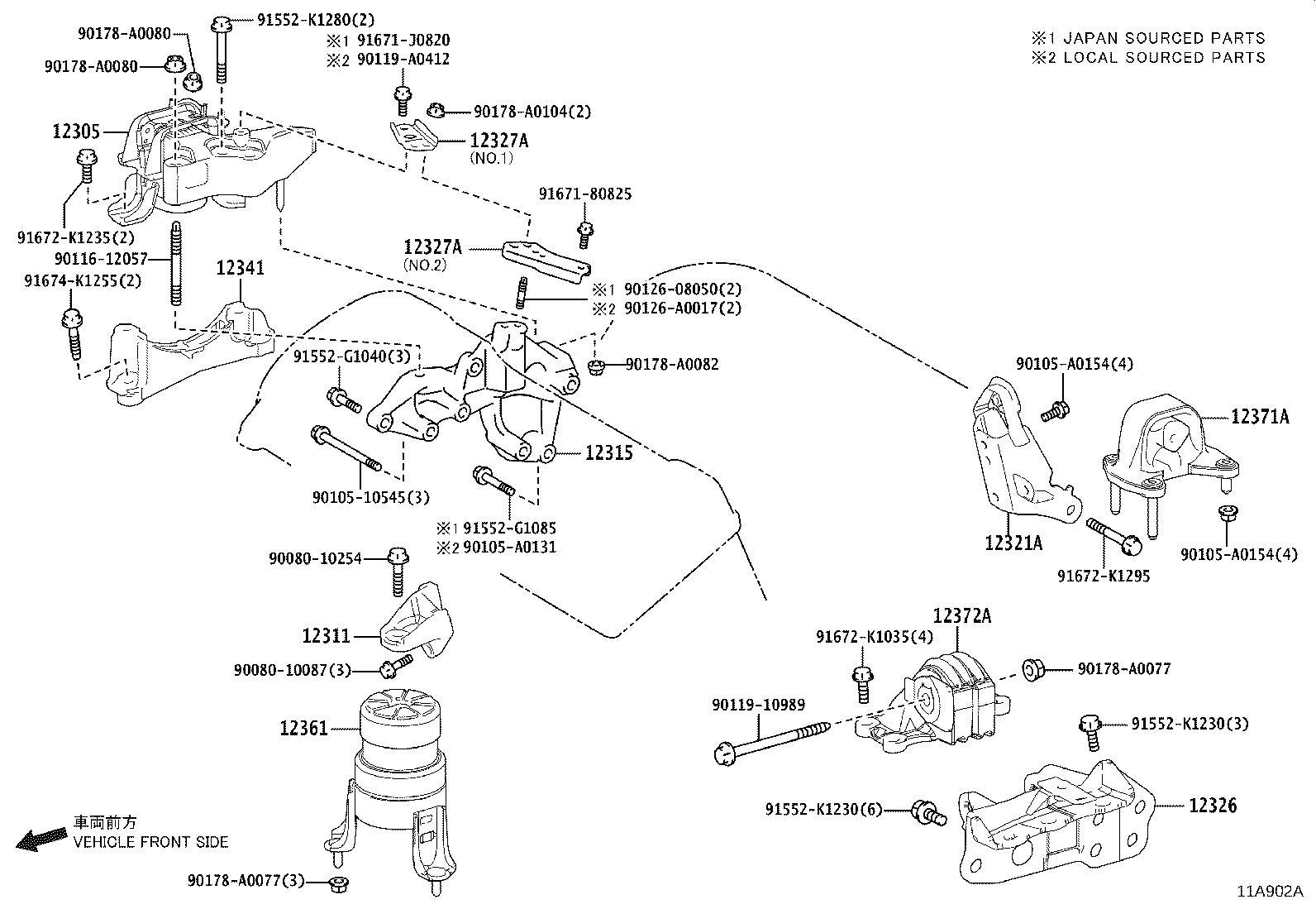 Lexus Rx 350 Bracket Engine Mounting Left For Transverse