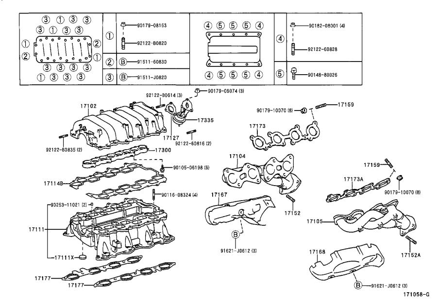 Lexus LS 400 Insulator, exhaust manifold heat, no. 2
