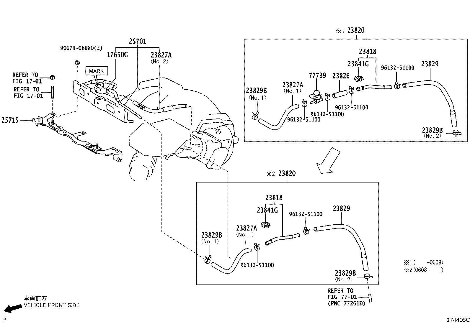 Lexus RX 400h Bracket, emission control valve. Engine