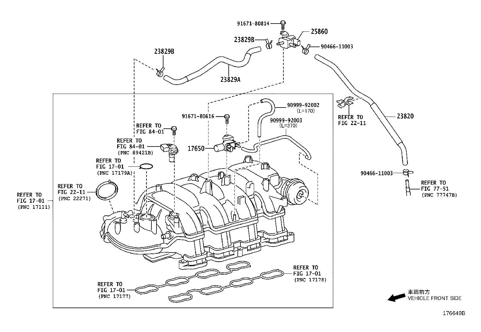 Lexus Gx 460 Hose Assembly Fuel Vapor Feed Vacuum