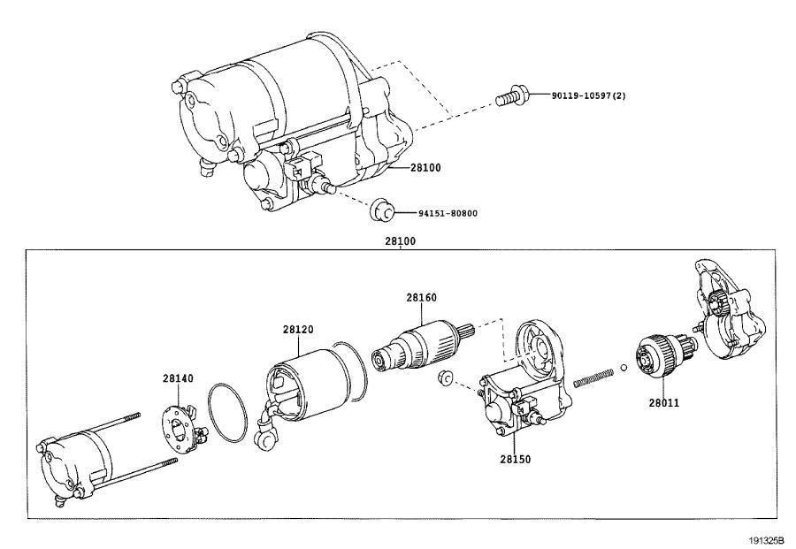Lexus SC 430 Starter Solenoid. Switch, Magnet Starter