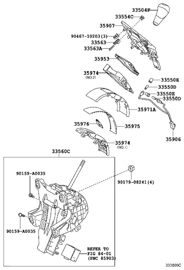 Lexus RX 350 Wire sub-assembly, indicator lamp