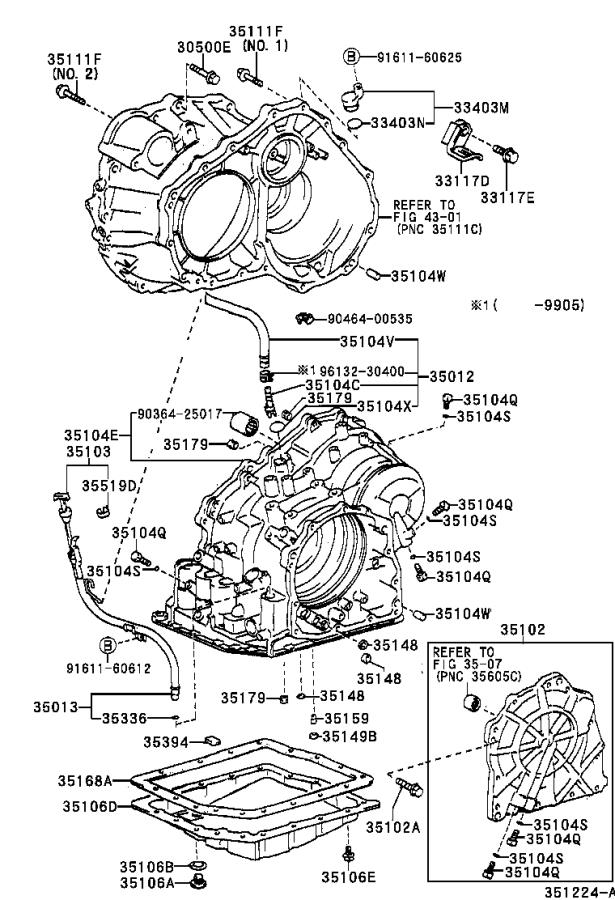 Lexus RX 300 Hose sub-assembly, transmission breather